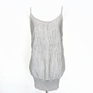 NWOT bebe Platinum Shimmery Knit Sleeveless Top